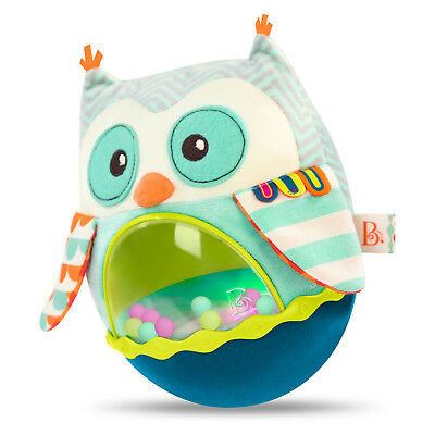 The adorably cool 'B. Yourself' Owl Plush. Interactive soft rocker toy.