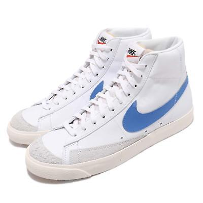 642826aaee0c07 Nike Blazer Mid 77 VNTG Sail White Pacific Blue Vintage Mens Shoes  BQ6806-400