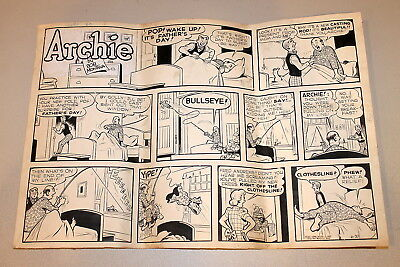 Archie ORIGINAL ART Sunday Comic Strip Bob Montana Riverdale 1948