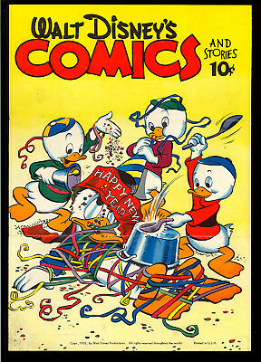 Walt Disney's Comics & Stories RARE Christmas Subscription Carl Barks 1952 FN