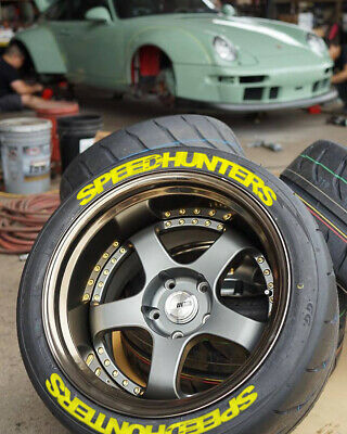 "Speedhunters 8xyellow permanent Tire Sticker 14/""-24/"" Lettering choose 25-31-38mm"