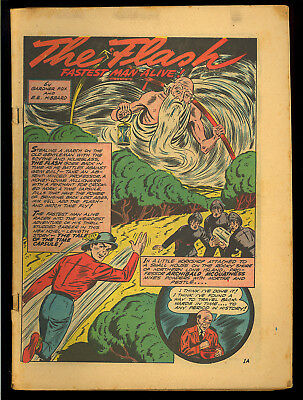 All-Flash #4 Coverless o/w Nice Golden Age Superhero DC Comic 1942