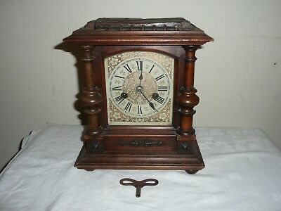 Antique H A C 14 Day Strike Mantle Clock, Sold For Restoration, With Key.