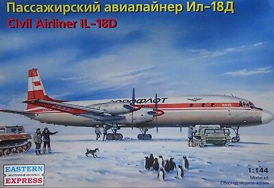 """EASTERN EXPRESS 14467 Civil Airliner IL-18D """"Aeroflot"""" in 1:144"""
