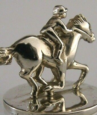 Solid Silver Horse Riding Racing Menu Business Card Holder London 2001