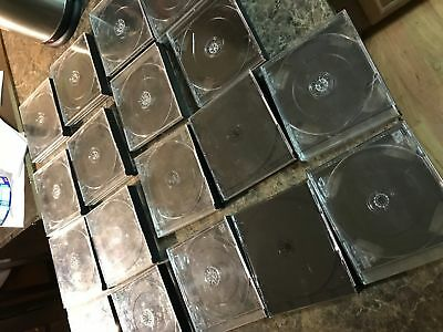 18 Playstation 1 One Double Thick Game Cases - Holds 2 3 And 4 Discs Per