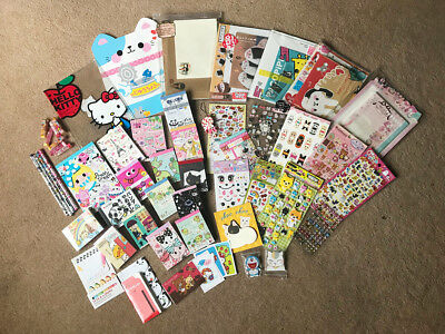 Japanese Stationery Bundle Memo Pads, Letter Set, Stickers, Pencils, Kawaii Cute