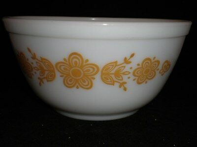 Butterfly Gold Pattern 1 1/2 Quart Pyrex Mixing Bowl Part Of Nesting Set 402