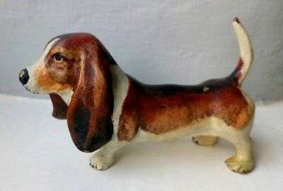 Cold Painted Bronze Dog blood hound Austrian Vienna