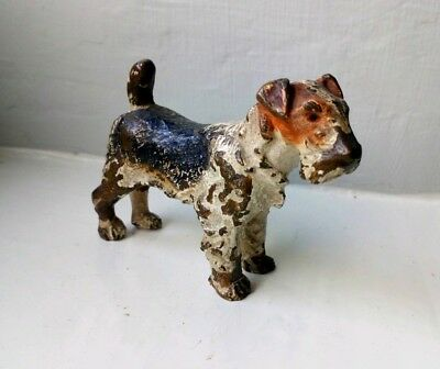 Cold Painted Miniature Bronze Dog Terrior Austrian Vienna