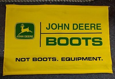 "RARE JOHN DEERE ""BOOTS"" EQUIPMENT Dealership BANNER SIGN...NICE!"