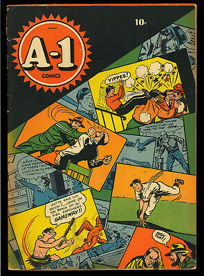 A-1 Comics #1 Nice First Issue Golden Age Comic 1944 VG-