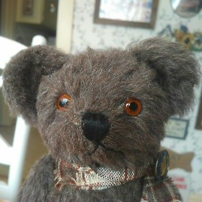 Antique Vintage 1930s mohair American Knickerbocker Teddy Bear 14in VGC