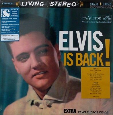 ELVIS PRESLEY RCA LIVING STEREO LSP-2231  ELVIS IS BACK! 33RPM 180g