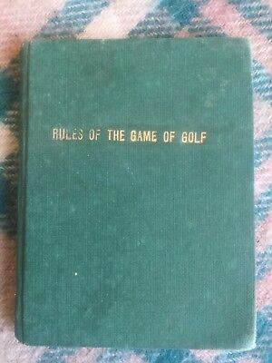 rules of the game of golf book from 1910 City Press Cawnpore India