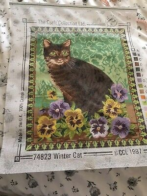 Printed tapestry canvas Only -  Winter Cat
