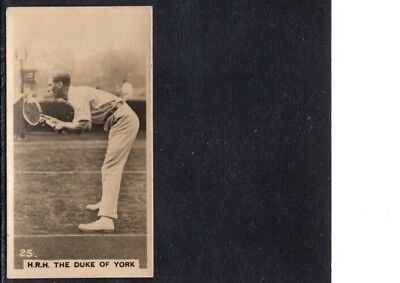 Very Early Tennis Cigarette Card,  Duke Of York Playing Tennis, Ex.-Mint
