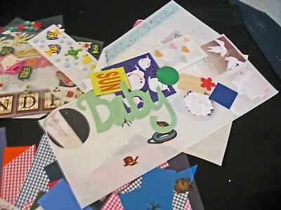 Scrapbooking, LG Lot of Stickers, Paper Triangles and More; Creative Memories +