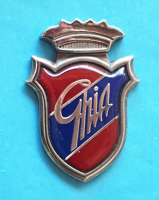 Altes Ford Ghia - Emblem/ Abzeichen   30,5 mm x 42,5 mm  4,6 mm Dick
