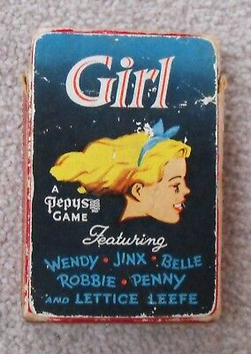 Girl. A Pepys Card game. Eagle connection.