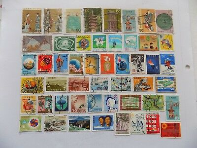 Japan Coll'n of stamps off paper all commemoratives.-1-13-some large pictorials