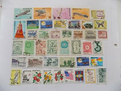 Korean Coll'n of stamps off paper all comm.-1-han i Incl. Scott # 883-4