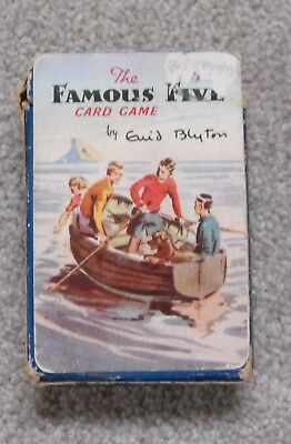 The Famous Five.  A Pepys Card game.  Enid Blyton. Soper illustrations