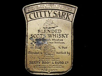 IL13164 VINTAGE 1970s **CUTTY SARK** BLENDED SCOTS WHISKY BOOZE BELT BUCKLE