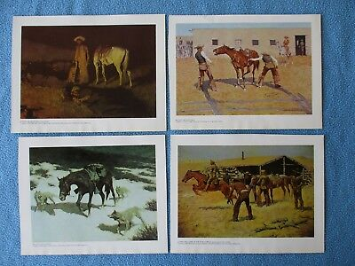 4 Frederick Remington Western Art Prints - 1976 - GREAT TO FRAME 4 GIFT      #5