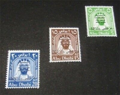 nystamps British Abu Dhabi Stamp # 15-17 Mint OG NH $40