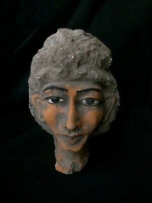 Ancient EGYPTIAN Antiques EGYPT STATUE KING AKHENATEN Mask Carved Stone KV 42