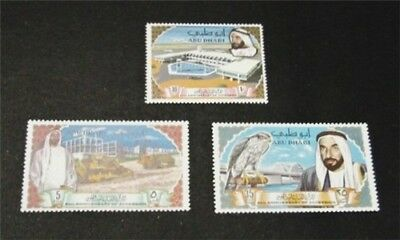 nystamps British Abu Dhabi Stamp # 49-51 Mint OG NH $37
