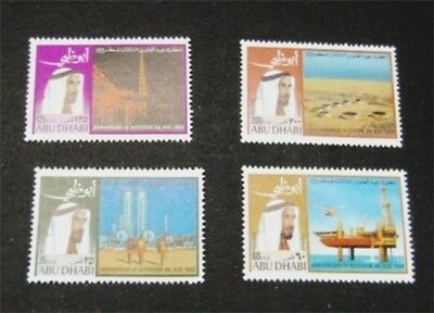 nystamps British Abu Dhabi Stamp # 52-55 Mint OG NH $34