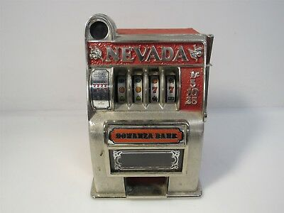 Vintage Bonanza Toy Bank Las Vegas Coin Slot Machine