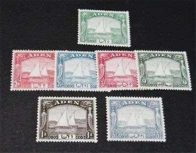 nystamps British Aden Stamp # 1-7 Mint OG NH $49