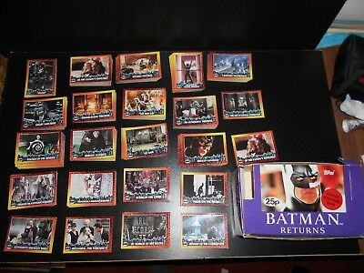 Tops 92 Batman Returns Movie Cards Box Cards Stickers Gum SPARES LOT