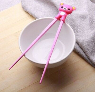 Wholesale pink Cute Design Child Training LEARNING CHOPSTICK Gift New