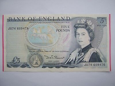 Rare Error Five Pound Note End Of Paper Untrimmed Pink Mint Dye Lines