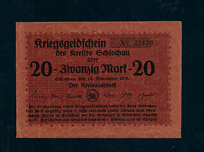 Notgeld  Germany  Schlochau -   14 November 1918 - 20 Mark //916