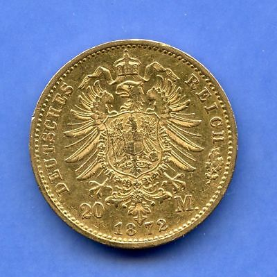 Preussen 20 Mark 1872 B Gold Wilhelm