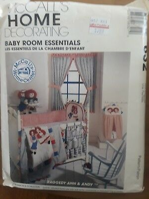 8549 Vintage UNCUT McCalls SEWING Pattern Raggedy Ann Andy Baby Room Essentials