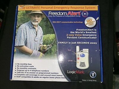 Freedom Alert 35511 LogicMark Personal Emergency Response System No Monthly Fees