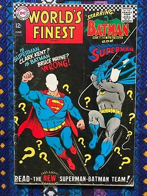 World's Finest 167 in VG Condition & 129 in G Condition