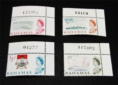 nystamps British Bahamas Stamp Mint OG NH Rare With Plate # s