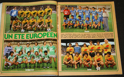 Football Poster Asse St Etienne Lens Nantes Bastia Coupes Europe Cup 1977-78