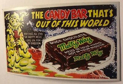 Vintage Wacky Ads Card Number One Near Mint Melty Way Candy Bar