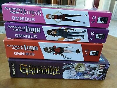Anime books manga lot of 4 Dictatorial Grimoire, Amazing Agent Luna & JennifeR