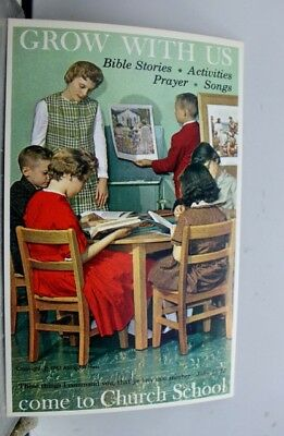 Christian Church School Grow With Postcard Old Vintage Card View Standard Post