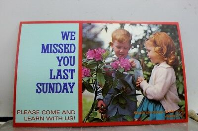 Christian We Missed You Last Sunday Postcard Old Vintage Card View Standard Post
