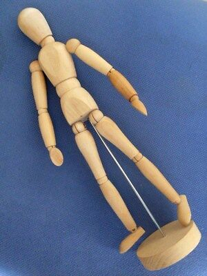 """WOODEN ARTIST MANNEQUIN. 13.5""""ins APPROX, EXCELLENT CONDITION"""